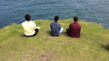 Meditation at Carrick-a-Rede Rope Bridge.
